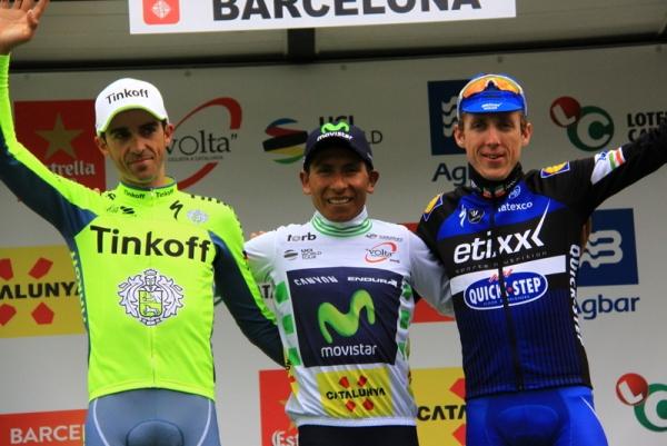 Da sx, Contador, Quintana e Daniel Martin, Podio 96^ Giro Catalogna (Foto JC Faucher)