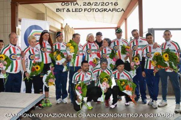 Le squadre campionesse d'Italia cronosquadre del Lazio