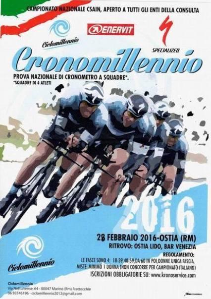 28.02.16 - LOCANDINA CRONO SQUADRE TRIC CSAIN CICLISMO CENTRO ITALIA