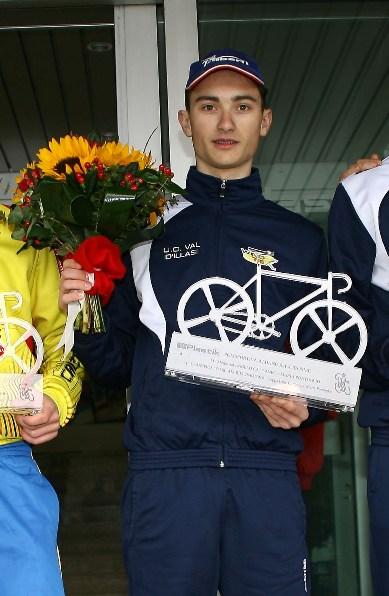 Samuele Carpene vincitore gara allievi (Foto Berry)