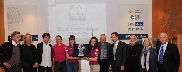 Foto Presentazione 40^ Giro del Trentino-Melinda a Trento (Foto Daniele Mosna)