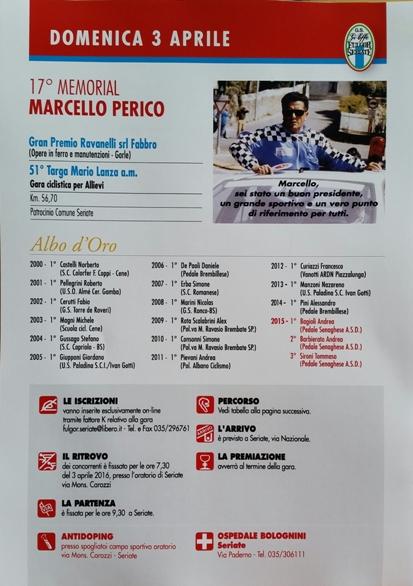 03.04.16 - LOCANDINA 17^ MEMORIAL MARCELLO PERICO