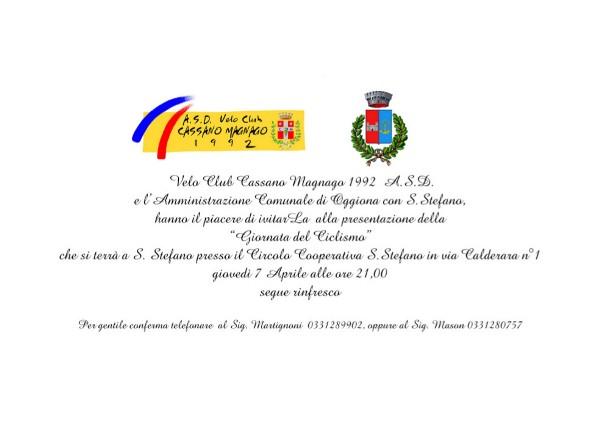 07.04.16 - Invito Presentazione giornata ciclismo