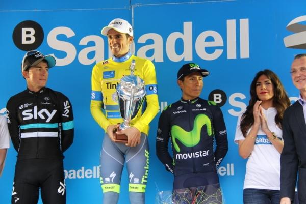 Contador con Henao e Quintana Podio Finale (Foto Jean Claude Faucher)