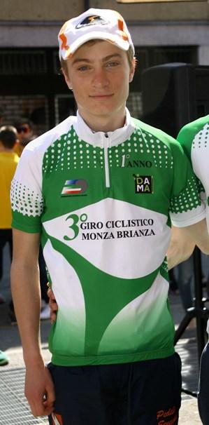 Lorenzo Pollicini capoclassifica Giro Brianza Allievi 1* anno (Foto Berry)