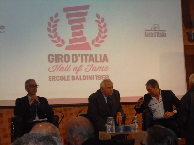 Da sx Pier Bergonzi, Ercole Baldini e Bartoletti (Foto Miserocchi)