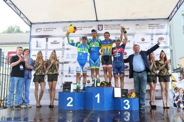 Un podio e palco della corsa Ukraina