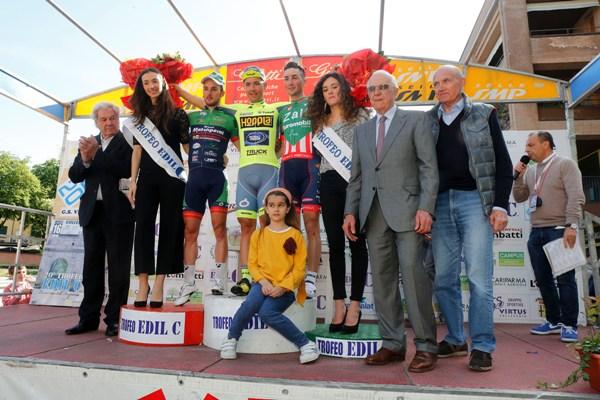 Podio con Zandegu, Cavazzini e Zilioli (Foto Pisoni)