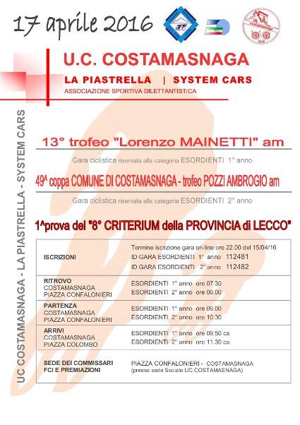 17.04.16 - LOCANDINA - Esordienti 17_04_16