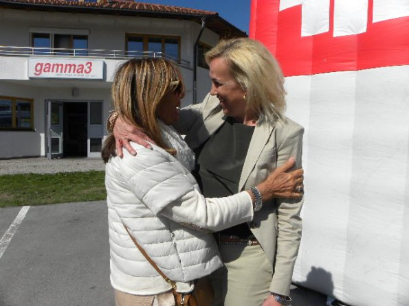 Astrid con Gianna a Seillan