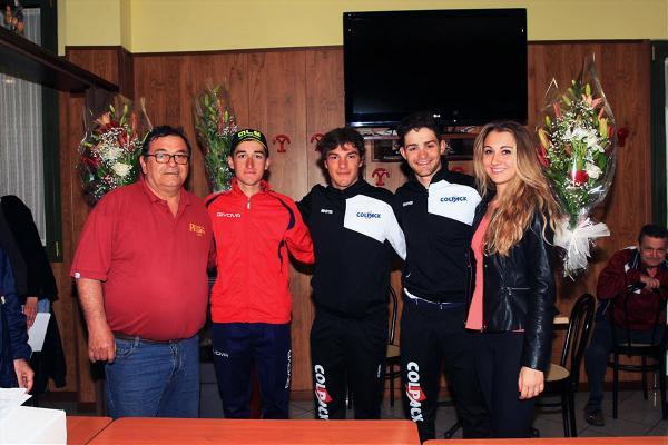 Da sx, Baldo, Viviani e Sartor, Podio 67^ Coppa Ardigo^ (Foto Soncini)
