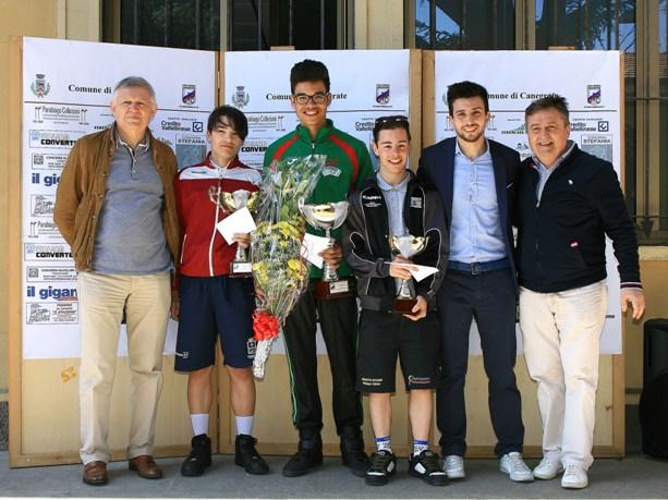 Da sx, Sindaco Gatti, Nova, Chiari, Assessore e presidente Frenati (Foto Berry)