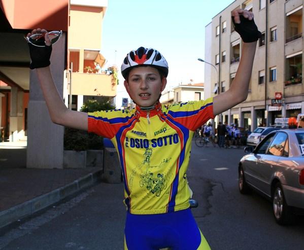Marco Ferrari dopo l'arrivo (Foto Berry)