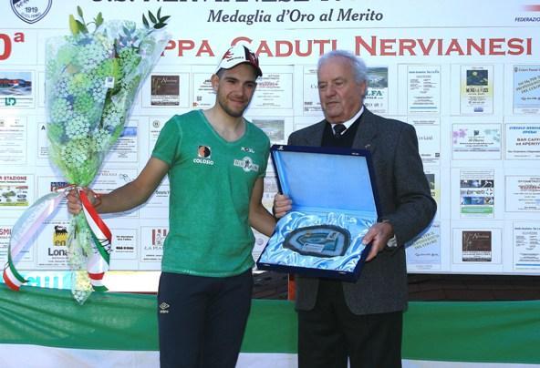Premiazione del vincitore De Mori Mattia (Foto Berry)