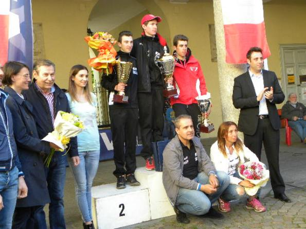 da sx, Giannuzzi, Bertoletti e Puppio, Podio 59° Coppa Tre Martiri (Foto Antonio Pisoni)