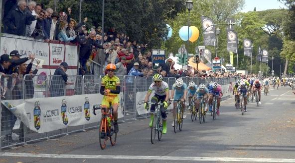 L'arrivo vittorioso di Marta Bastianelli