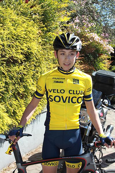 Luca Buttini dopo l'arrivo (Foto Kia Castelli)