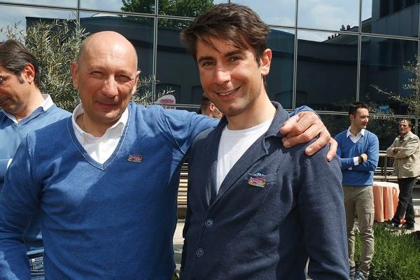 Maurizio Piovani e Diego Ulissi (Foto Pisoni)