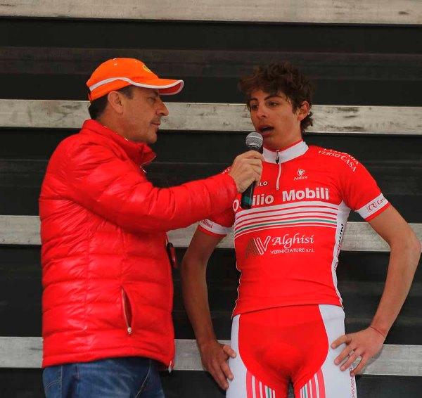 Brambilla intervista il vincitore Furlan Matteo (Foto Pisoni)