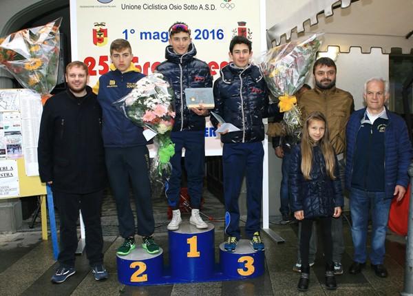Da sx, Vergani, Persico e Chiodini, Podio 25^ GP 1^ Maggio (Foto di Berry)