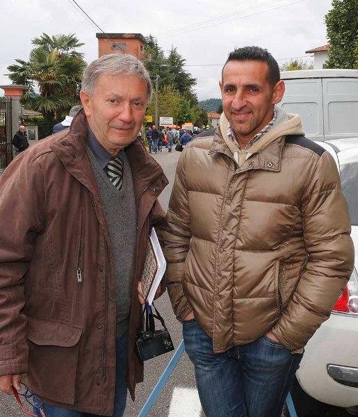 Vito con l'ex professionista Simone Zucchi (Foto Antonio Pisoni)
