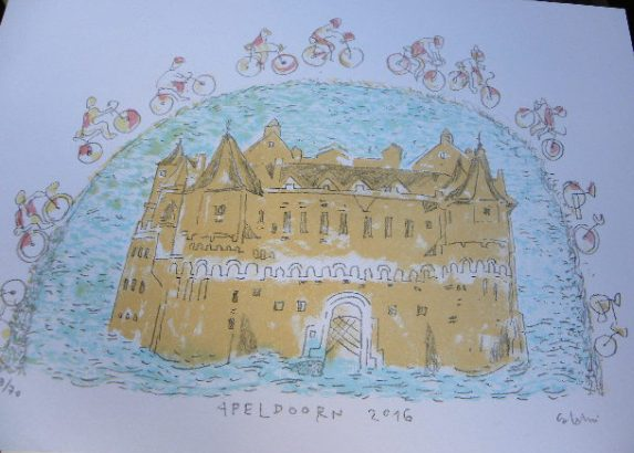 L'0pera di Vico Calabro^ in onore della citta^ di Apeldoorn, sede di partenza del 99^ Giro D'Italia (Foto Nastasi)