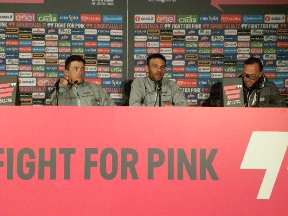 Pozzovivo e Peraud in conferenza stampa (Foto Nastasi)