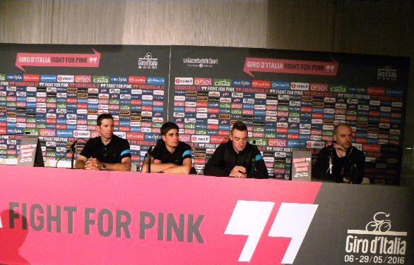 Nieve, Landa e Viviani in conferenza stampa (Foto Nastasi)
