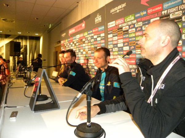 Astana in conferenza stampa (Foto Nastasi)