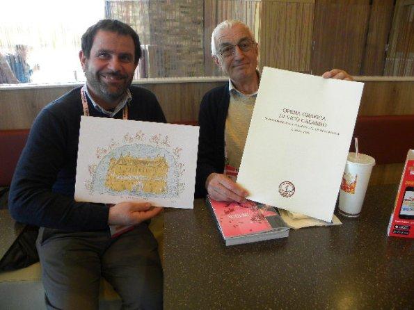Da sx, Giancarlo Busato, Stampatore e Vico Calabro^, preparatore della Matrice  da stampare (Foto Nastasi)