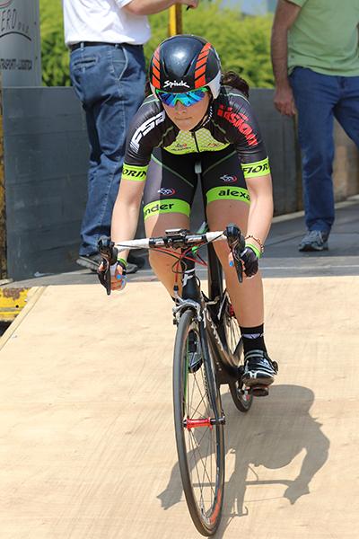 Federica Piergiovanni vincitrice della gara (Foto Kia Castelli)