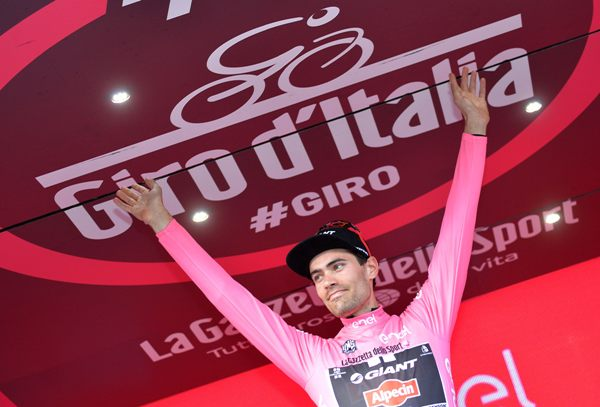 Giro D'Italia 2016: sixth stage-Tom Dumoulin (@ansa)