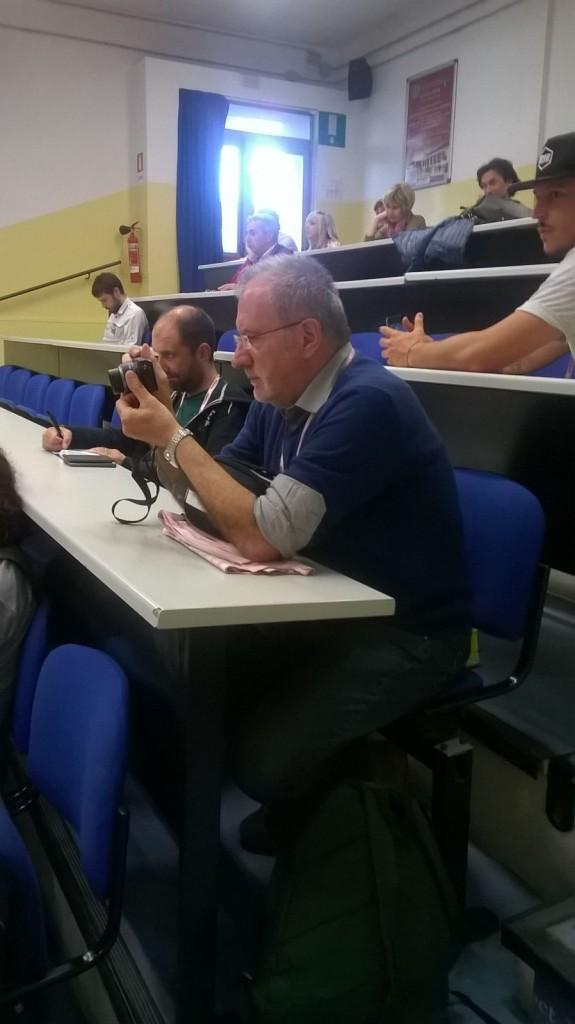 Aldo Trovati in Sala Stampa a Greve in Chianti (Foto Gabriella Mosna)