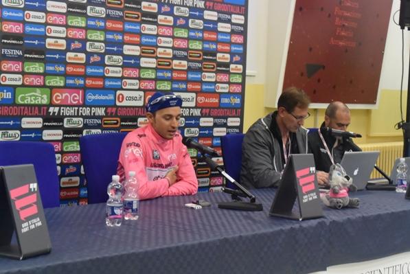Brambilla in conferenza stampa (Trovati)