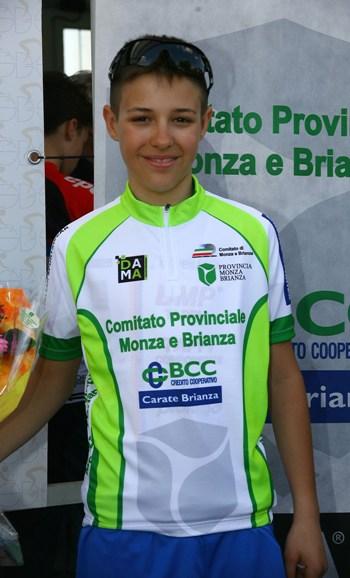 Daniele Anselmi  della Sco Cavenago, neo campione prov. Monza&Brianza Esordienti 1^ anno (Foto Berry)