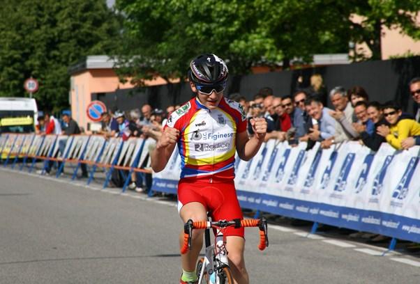 La vittoria in solitaria di Alessandro Ceci (Foto Berry)