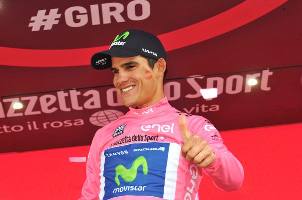 Andrey Amador, nuova maglia rosa del Giro d'Italia (Foto Mosna Natascia G.)