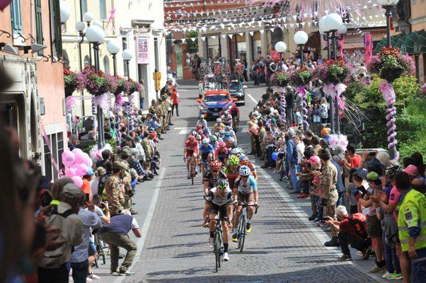 La fuga che ha determinato l'esito finale della 13^ tappa (Foto Mosna Natascia G.)
