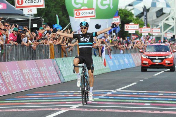 Mikel Nieve a Cividale - seconda vittoria al Giro per il corridore spagnolo (Foto di Mosna Natascia G.)