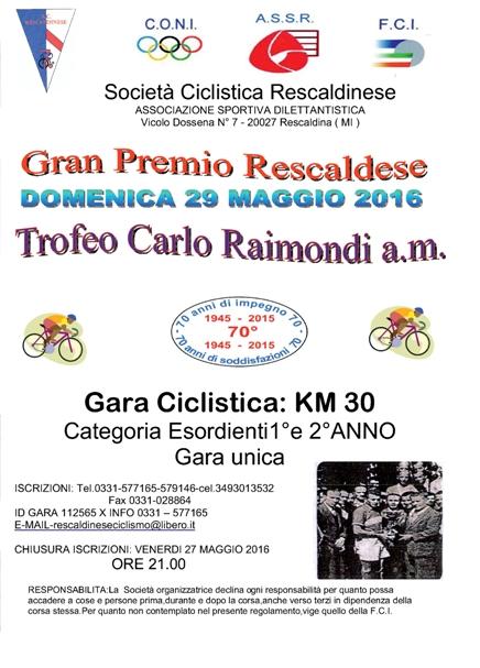 26.05.2016 - Volantino 2Rescaldinese 29 Maggio