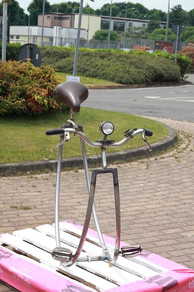Uno strano prototipo di Bicicletta (Foto Kia Castelli)