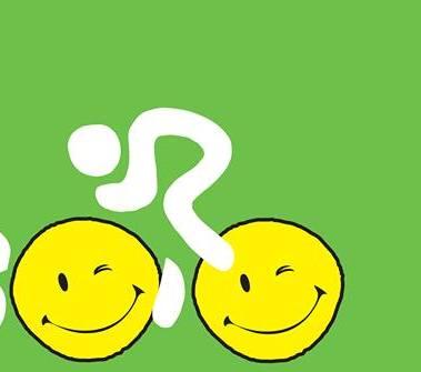 01.01.01 - Logo con ruote e ciclista stilizzati sorriso