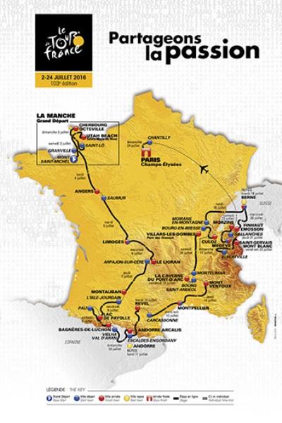 Planimetria Generale del 103^ Tour de France