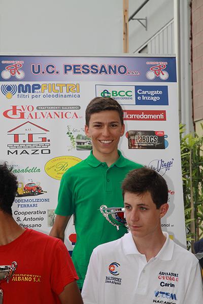 Premiazione Marco Colombo 3^ classificato (Foto Kia)