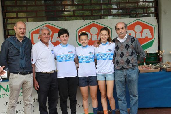 Le neo campionesse provinciali (Foto Ghilardi)