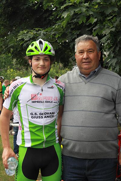 Luca Varenna col suo presidente Rocco D'Aprile (Foto Kia)
