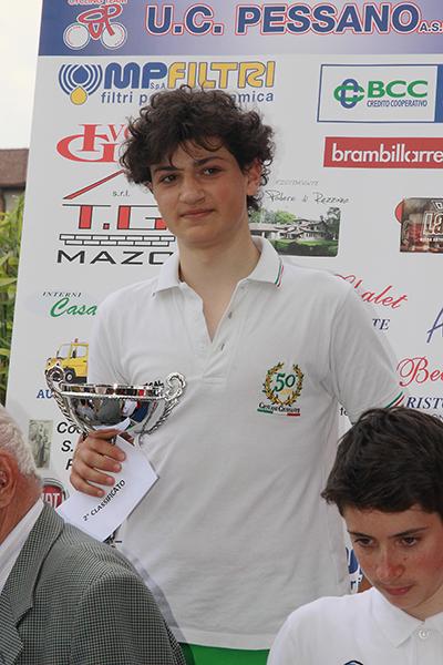 Luca Varenna premiato quale 2^ classificato (Foto Kia)