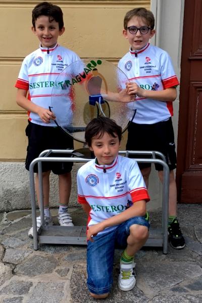 Ettore Monticelli (G2), Matteo Turconi (G3) e Gioele Ferrario (G4) Campioni provinciali giovanissimi  (Foto Ossola)