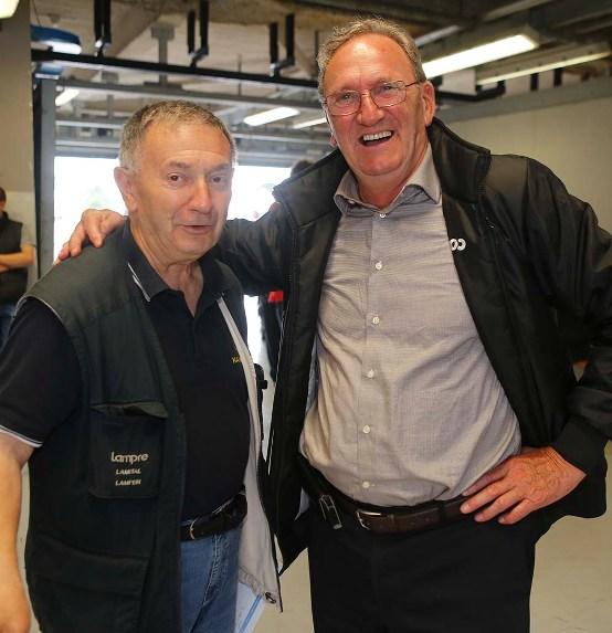 Vito Bernardi con Beppe Colleoni Patron del Team Colpack (Foto Pisoni)
