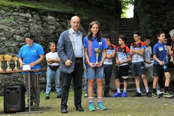 Camilla Barbero (Esperia Piasco) 8^ classificata nella gara Esordienti 1^ anno